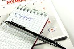 Zeitplanfristen Stockfoto