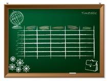 Zeitplanhand gezeichnet auf Tafel Lizenzfreies Stockbild