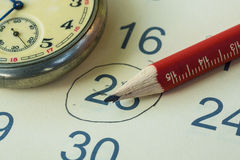 Zeitplanung Lizenzfreies Stockfoto