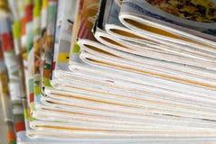 Zeitschriften lizenzfreie stockfotos