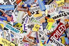 Zeitschriften-Ausschnitts-Hintergrund Stockfotos