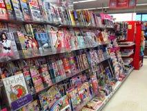 Zeitschriften in einem Shop Lizenzfreie Stockfotos