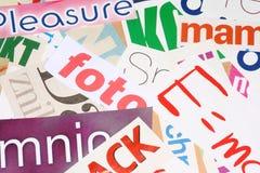 Zeitschriftenausschnitte Lizenzfreie Stockfotografie