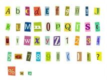 Zeitschriftenbuchstaben Stockbilder