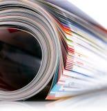 Zeitschriftenrolle Stockfoto
