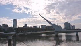 Zeitspanne Argentiniens, Buenos- Airesstadtbild Puerto Madero stock footage