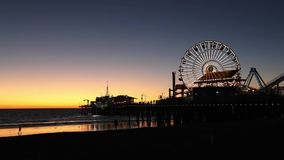 Zeitspanne auf Santa Monica-Pier stock video footage