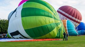 Zeitspanne Ballon-Festival Barneveld stock video