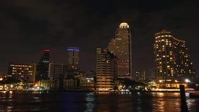Zeitspanne beim Chao Phraya, Bangkok Thailand stock video