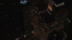 Zeitspanne Chicago am Nachtverkehr vom Hancock-Gebäude stock video footage