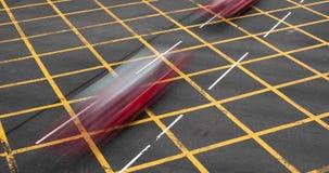Zeitspanne der beschäftigten Schnellstraße mit Verkehr in Hong Kong stock video footage