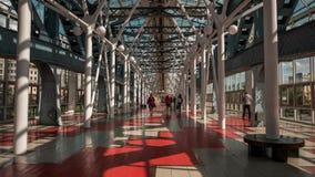 Zeitspanne der Bogenstrukturen von Kievsky-Brücke, Moskau stock video