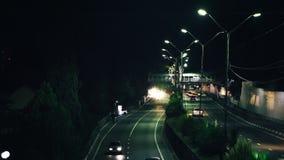Zeitspanne der Landstraße stock footage
