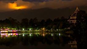Zeitspanne der Nachtwolkenszene stock video footage