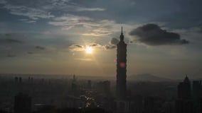 Zeitspanne der schöner Aussicht von Taipeh-Nacht, Taiwan stock video footage