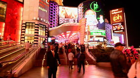 Zeitspanne des Las Vegas-Streifens nachts
