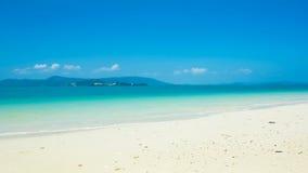 Zeitspanne des tropischen Strandes stock footage