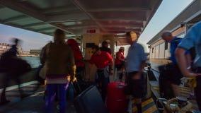 Zeitspanne des Venedig-Tagesfährenpassagierautoreisepanoramas 4k Italien stock footage