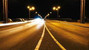Zeitspanne des Verkehrs nachts stock video