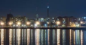 Zeitspanne des Verkehrs in Rambla-De Montevideo stock footage