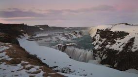 Zeitspanne des Wasserfalls Gullfoss, Island, stock footage