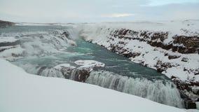 Zeitspanne des Wasserfalls Gullfoss in Island, 4K stock footage