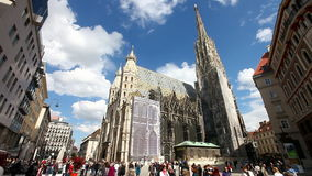 Zeitspanne des Wiens Stephansdom stock video
