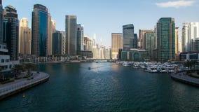 Zeitspanne Dubais Marina Day stock footage