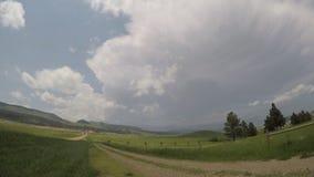 Zeitspanne eines sich entwickelnden schweren Gewitters über dem Black Hills in South Dakota stock footage