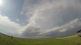 Zeitspanne eines Supercellgewitters in South Dakota stock video footage