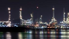 Zeitspanne-Erdölraffinerieindustrie stock footage
