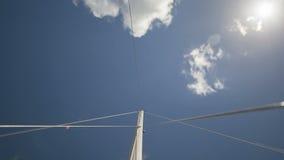 Zeitspanne Segeln durch Wolken Bonaire stock footage