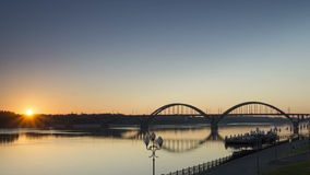 Zeitspanne, Sonnenaufgang, Rybinsk, 1080p, volles hd stock video