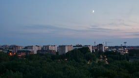 Zeitspanne in Stockholm nachts stock video