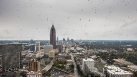 Zeitspanne von Atlanta an einem regnerischen Tag stock video footage
