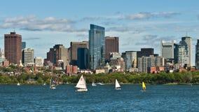 Zeitspanne von Boston-Skylinen, Massachusetts, USA stock footage