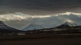 Zeitspanne von drastischen Wolken in Island, stock video footage