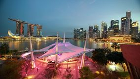 Zeitspanne von Marina Bay Sands Singapore-Skylinen stock footage