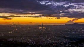 Zeitspanne von Seoul-Stadt-Skylinen, Südkorea stock video