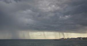 Zeitspanne von stürmischen Wolken stock footage