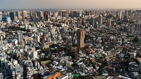 Zeitspanne von Tokyo-Stadt, Japan stock video footage