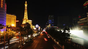 Zeitspanne Watershow Las Vegas Blvd stock video footage