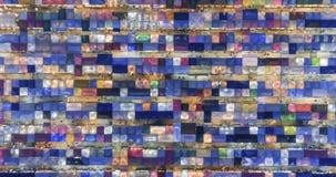 Zeitspanneansicht von der Luftder draufsichtzugnachtmarkt ratchada multi Farbsch?ne abstrakten Kunst in Bangkok, Bangkok Markt, t stock footage
