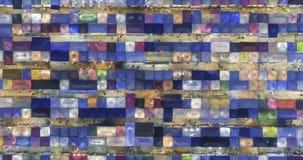 Zeitspanneansicht von der Luftder draufsichtzugnachtmarkt ratchada multi Farbsch?ne abstrakten Kunst in Bangkok, Bangkok Markt, t stock video footage