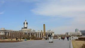 Zeitspannevideo Bahnhofs Tianjins stock footage
