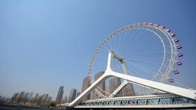 Zeitspannevideo des Tianjin-Riesenrads, Tianjin-Auge stock footage