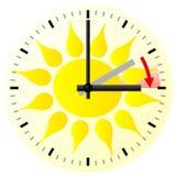 Zeitumstellung zur Sommerzeit Lizenzfreies Stockfoto