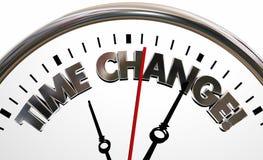 Zeitumstellungs-neue Zeitplan-Sitzungs-Uhr Stockbild