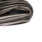 Zeitung auf Weiß Stockfoto