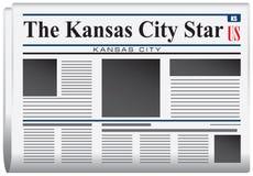 Zeitung der Kansas City-Stern Stockbild